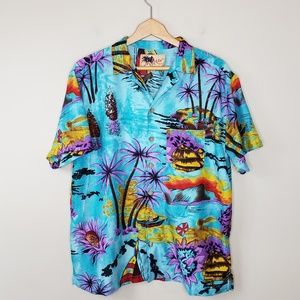 In Gear | Hawaiian Print Button Front Shirt